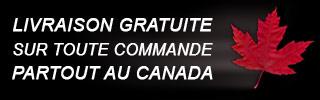 Expédition gratuite au Canada