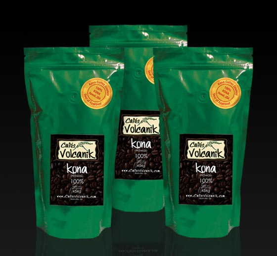 decaffeinated kona coffee 1 lb x 3